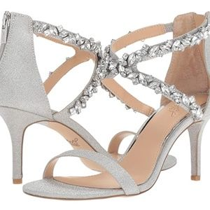 Jewel Badgley Mischka Jaylee Silver Sandal